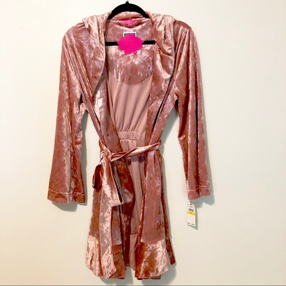 discount up to 60% the sale of shoes super cute NWT Betsey Johnson Rocker Robe - pink velvet NWT